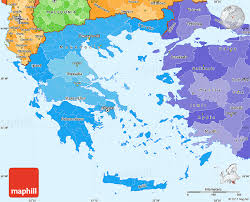 greece map political political shades simple map of greece