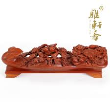 real wood carving flower ruyi ornaments rosewood