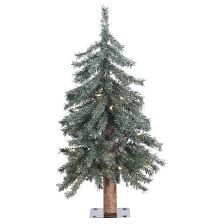 2 bark alpine artificial tree with clear lights