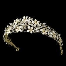 bridal headband exquisite gold floral wedding bridal headband tiara on tradesy