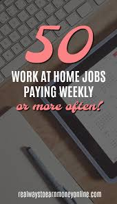 Graphic Design Works At Home Massive List Of Work At Home Jobs Paying Weekly Or More Blogging