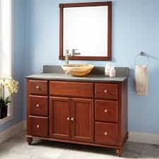 48 vanity with vessel sink in bathroom 48