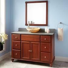 Cherry Bathroom Vanity by 48 Vanity With Vessel Sink In Bathroom 48