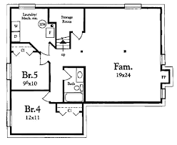 Storage Room Floor Plan Cottage Style House Plan 3 Beds 1 00 Baths 1200 Sq Ft Plan 409 1117