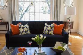 blue and gray sofa pillows orange and gray throw pillows pillow cushion blanket