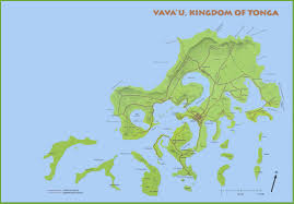 Tonga Map Vavau Island Map
