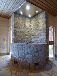 Designvorschlag Wohnzimmer Bodenbeläge Und Verkleidung Vom Ofen In Blockbohlen Sauna Aus