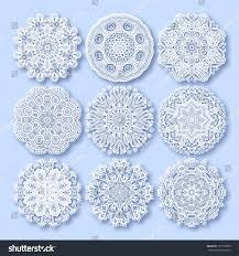 circle lace ornament round ornamental geometric stock vector