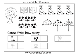 kindergarten math worksheets counting objects chainimage