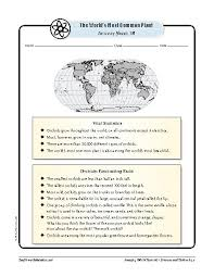 world u0027s most common plant the orchid u2014science worksheets and