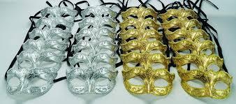 venetian masks bulk venetian mask party pack silver and gold mgideas