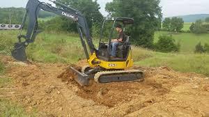 2010 deere 35d mini excavator for sale working backfilling ditch