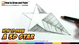 how to draw a 3d star shape art for kids draw a star in one
