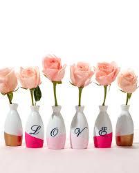 Mini Bud Vases Valentine U0027s Day Color Block Bud Vases Martha Stewart