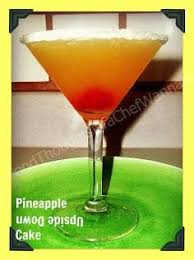 pineapple upside down cake 1 part uv cake vodka 2 parts pineapple