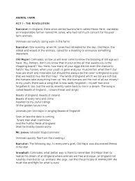 a play written script for animal farm