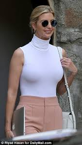 ivanka blouse ivanka wears a skin white shirt to work daily mail