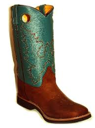 womens cowboy boots size 11 pueblo crepe sole teal antq leather womens cowboy boots