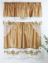 Gold Kitchen Curtains by 10 Best Elegance Voile Sheers In Black White Sage Green Blue