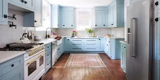 paint ideas for kitchen with blue countertops how to pull a powder blue kitchen