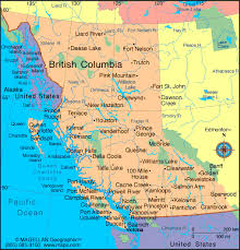 bc map northern columbia and southern yukon map