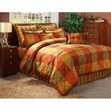 Burnt Orange Comforter King 8 Best Rustic Orange U0026 Grey Bedding Sets Images On Pinterest