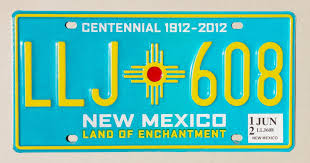 License Plate Map Of The United States by 100 Years Of New Mexico License Plates Albuquerque Journal
