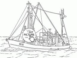 real fishing vessel coloring page for kids transportation