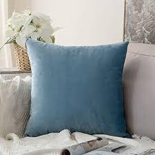 taie d oreiller pour canapé coussin velours bleu