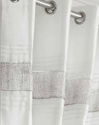 White Lined Curtains White And Silver Diamante Curtains Home Decoration Ideas
