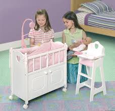 Used Round Crib For Sale by Amazon Com Badger Basket White Doll Crib With Cabinet Bedding