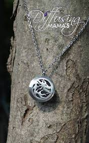 round locket necklace images Silver medium round dragon necklace diffusing mama 39 s essential jpg