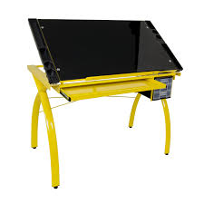 Creation Station Studio Desk by Studio Designs Futura Drafting Table With Glass Top Hayneedle