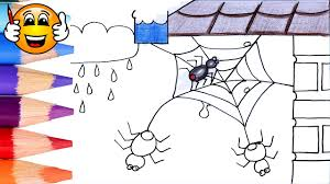 coloring pages for kids spider web house coloring for kids