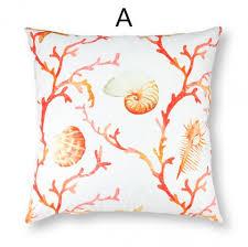 ou jeter un canapé sea shell jeter des oreillers pour coussins de canapé canapé de