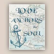 Love Anchors The Soulnautical Anchor - adventure awaits print travel quote inspirational quote wedding