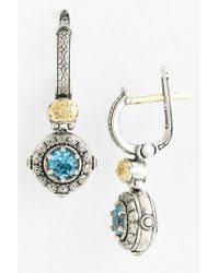 Aegean Chandelier Earrings Turquoise Blue Lyst Shop Women U0027s Konstantino Earrings From 195 Lyst