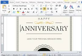create a gift card how to create a printable anniversary gift certificate