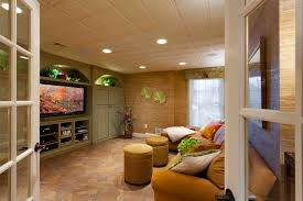 drop ceiling ideas basement tropical with tv area with build