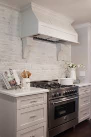 white kitchen with backsplash best 25 brick backsplash white cabinets ideas on pinterest
