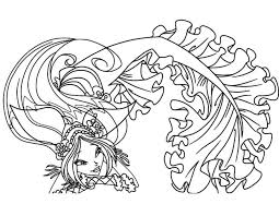 winx coloring pages for girls