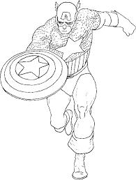 captain america super hero coloring pages superhero stars