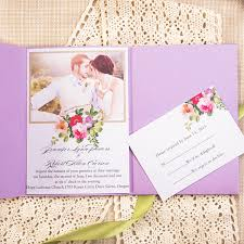 purple wedding invitation kits rustic photo purple pocket lace wedding invitation kits ewpi163 as