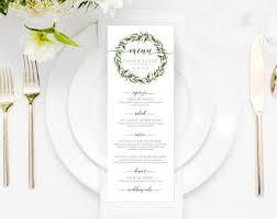 eucalyptus wedding menu eucalyptus branch wedding menu