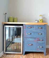 Turquoise Cabinet Beat Up Garage Cabinet Becomes A Custom Kitchen Countertop Base