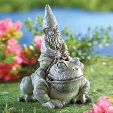 resin garden decor gnome frog outdoor garden yard