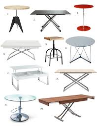 adjustable coffee dining table best height adjustable tables 2013 apartment therapy