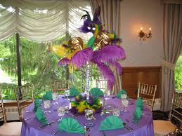 Ball Table Decorations Mardi Gras Themed Table Centerpiece For A Sweet 16 At The Andover