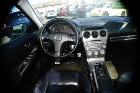 2004 mazda 6 black manual shift 4dr sedan