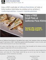 California Pizza Kitchen Coupon Code by Dani U0027s Top Deals Of The Past 2 Weeks U2013 8 7 13 Dani U0027s Decadent Deals